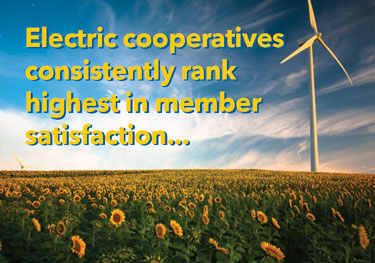 Electric cooperatives consistently rank highest in member satisfaction.